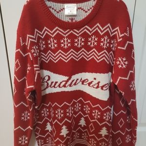 Budweiser Mens NWOT Christmas Sweater size Small